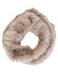 Yves Salomon - Knitted Fur Snood Grey - Lyst