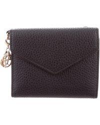 Dior - Diorissimo Envelope Wallet Black - Lyst