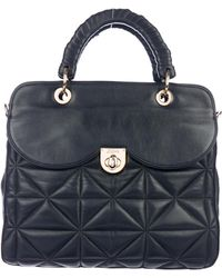 Z Spoke by Zac Posen - Quilted Leather Satchel Navy - Lyst