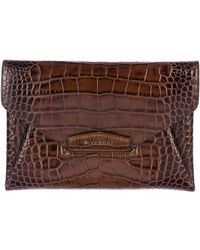 Givenchy - Embossed Antigona Clutch Brown - Lyst