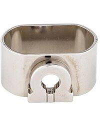 Ferragamo - Gancino Scarf Ring Silver - Lyst
