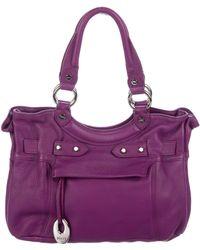 Emilio Pucci - Leather Shoulder Bag Purple - Lyst