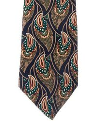 Givenchy - Paisley Print Silk Tie Navy - Lyst