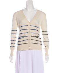 Band of Outsiders - Silk & Cashmere-blend Cardigan Neutrals - Lyst