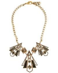Lulu Frost - Crystal Collar Necklace Gold - Lyst