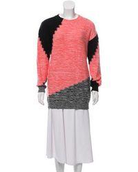 Sonia by Sonia Rykiel - Sonia By Rykiel Printed Crew Neck Sweater - Lyst