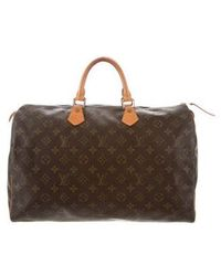Louis Vuitton - Monogram Speedy 40 Brown - Lyst