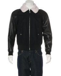 Sandro - Leather-trimmed Bomber Jacket - Lyst