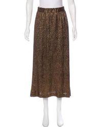 Alexis - Midi Skirt Bronze - Lyst