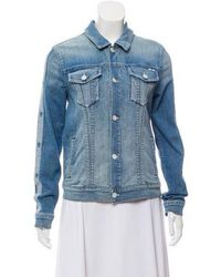 Mother - Denim Contrast-trimmed Jacket W/ Tags - Lyst