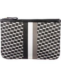 Pierre Hardy - Cube Stripe Clutch Black - Lyst