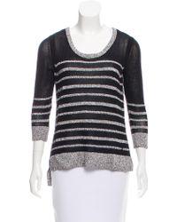 Rag & Bone - Striped Scoop Neck Sweater - Lyst