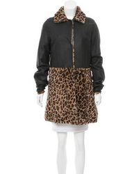 Boutique Moschino - Shearling Knee-length Coat - Lyst