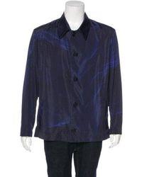 Christopher Kane - Geometric Print Coach Jacket Indigo - Lyst