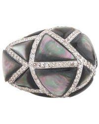 Kara Ross - Large Maze Byzantine Ring Silver - Lyst