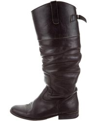 Golden Goose Deluxe Brand - Distressed Knee-high Boots Black - Lyst