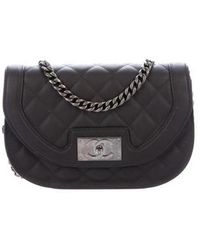 a09a36655de8 Lyst - Chanel Quilted Flap Bag Tan in Metallic
