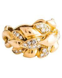 Chanel - 18k Diamond Wheat Ring Yellow - Lyst