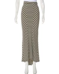 Torn By Ronny Kobo - Striped Maxi Skirt - Lyst