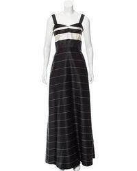 Katie Ermilio - Sleeveless Stripe Evening Dress - Lyst
