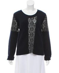 Thakoon - Wool-blend Sweater Navy - Lyst