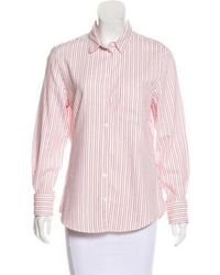 Boy by Band of Outsiders - Striped Button-up Top - Lyst