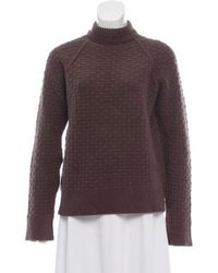 Neil Barrett - Cable Knit Mock Neck Sweater Olive - Lyst
