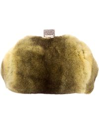 Edie Parker - Fur Small Bag W/ Tags Chartreuse - Lyst