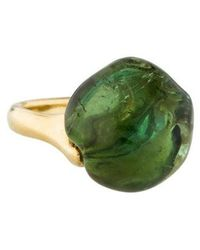 Nicholas Varney - 18k Green Tourmaline Cocktail Ring Yellow - Lyst