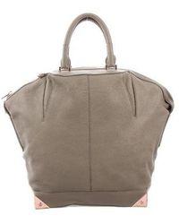 Alexander Wang - Leather Emile Bag Grey - Lyst