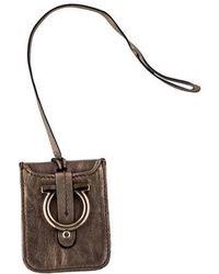 Ferragamo - Leather Luggage Tag - Lyst