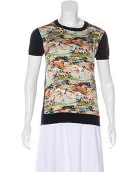 Dior - Printed Short Sleeve Top - Lyst