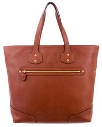 Ghurka - Smooth Leather Tote Brown - Lyst