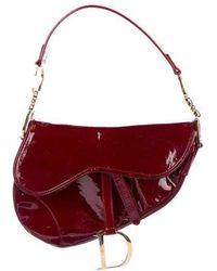 Dior - Diorissimo Embossed Saddle Bag Gold - Lyst