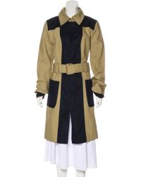 2da27f632221 Lyst - Tory Burch Double-breasted Belted Trench Coat Khaki in Natural