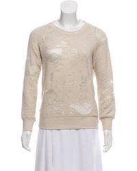 IRO - Distressed Knit Sweatshirt Neutrals - Lyst