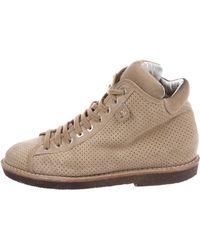 Chanel - Cc Suede Ankle Boots Khaki - Lyst