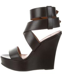 Givenchy - Wedge Ankle Strap Sandals - Lyst