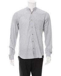 Orley - Herringbone Wool Shirt W/ Tags Grey - Lyst