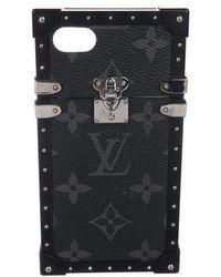 Louis Vuitton - Monogram Eclipse Eye-trunk Iphone Case Black - Lyst