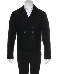 Dior Homme - 2006 Wool Double-breasted Peacoat Black - Lyst