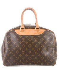 Louis Vuitton - Monogram Deauville Bag Brown - Lyst