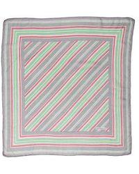 Cacharel - Striped Print Scarf Grey - Lyst