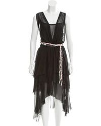 Girl by Band of Outsiders - Layered Silk Dress W/ Tags - Lyst