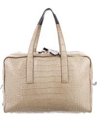 CALVIN KLEIN 205W39NYC - Crocodile Weekender Travel Bag Beige - Lyst