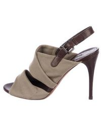 Vera Wang Lavender - Canvas Ankle Strap Sandals Tan - Lyst