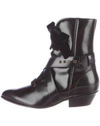 Philosophy Di Lorenzo Serafini - Patent Leather Pointed-toe Boots - Lyst
