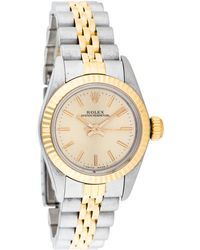 Rolex - Oyster Perpetual Watch Gold Tone - Lyst