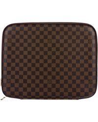 Louis Vuitton - Damier Ebene Laptop Case Brown - Lyst