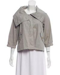 Nicholas K - Wide-collar Casual Jacket Grey - Lyst